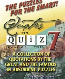 Quotes in Quiz - The Puzzles for the Smart, Pocketbook Volume07